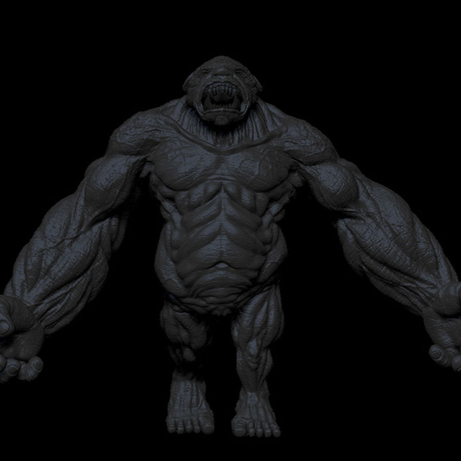 Potwór / Stwór royalty-free 3d model - Preview no. 5