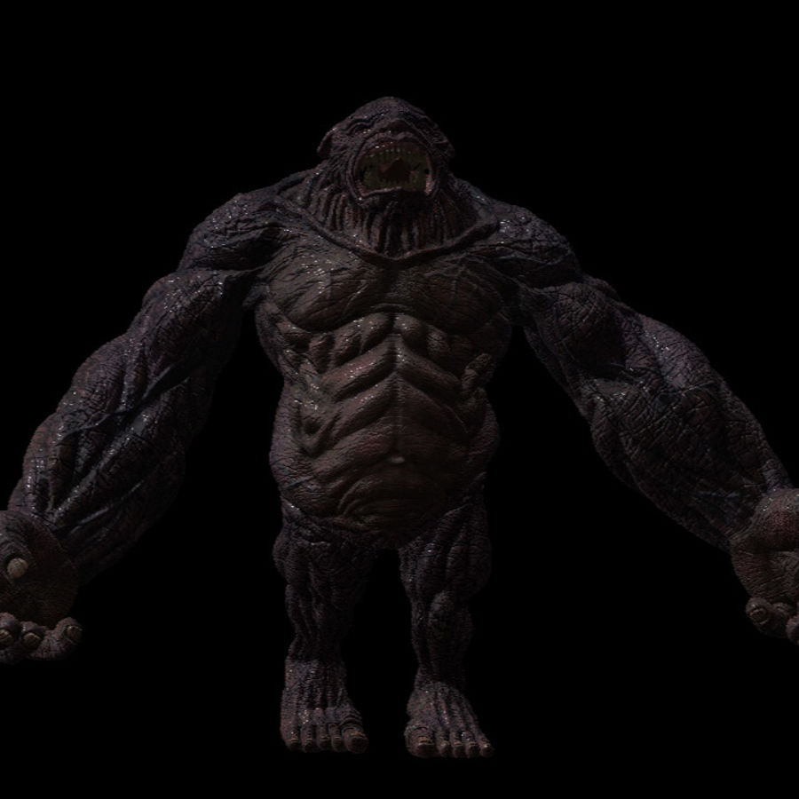 Monster creature 3d model 1 ztl obj free3d for Monster 3d model
