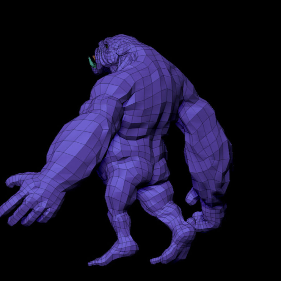 Monster / varelse royalty-free 3d model - Preview no. 11