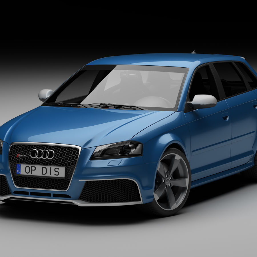 Audi RS3 2012 royalty-free 3d model - Preview no. 1