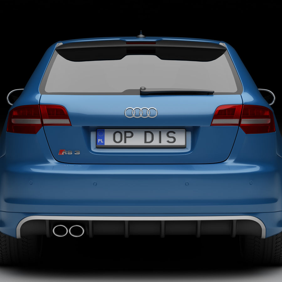 Audi RS3 2012 royalty-free 3d model - Preview no. 4