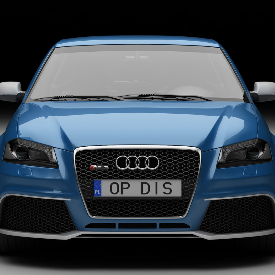 Audi RS3 2012 royalty-free 3d model - Preview no. 3