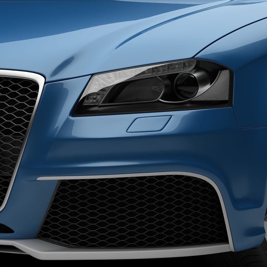 Audi RS3 2012 royalty-free 3d model - Preview no. 9