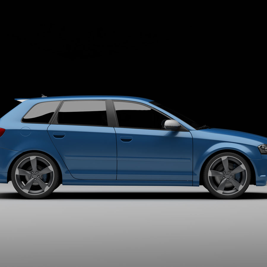 Audi RS3 2012 royalty-free 3d model - Preview no. 6