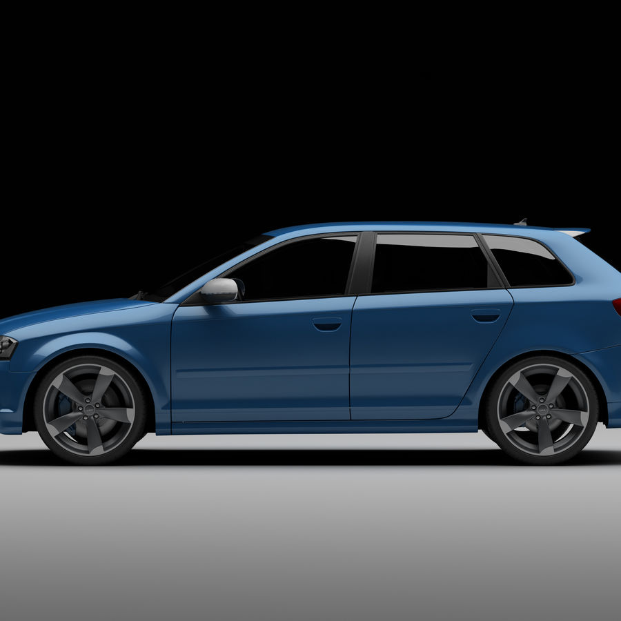 Audi RS3 2012 royalty-free 3d model - Preview no. 5