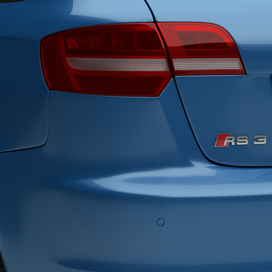 Audi RS3 2012 royalty-free 3d model - Preview no. 10