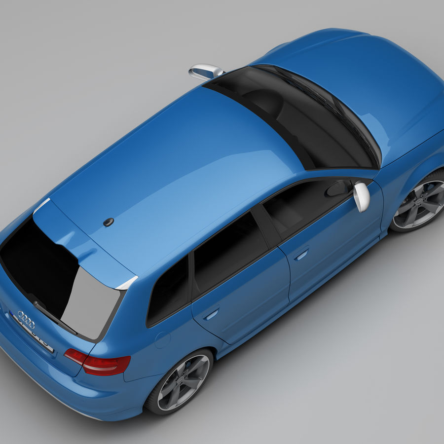 Audi RS3 2012 royalty-free 3d model - Preview no. 8