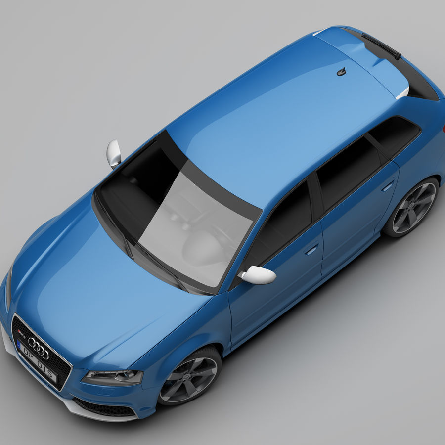 Audi RS3 2012 royalty-free 3d model - Preview no. 7