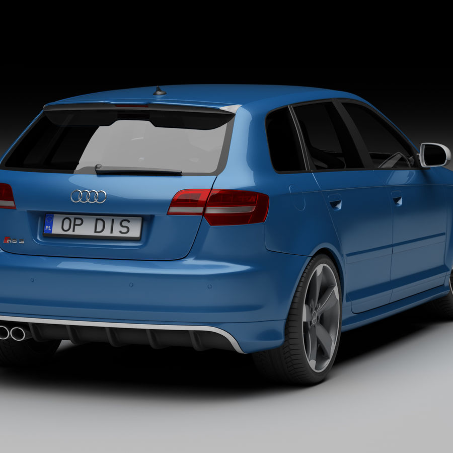 Audi RS3 2012 royalty-free 3d model - Preview no. 2