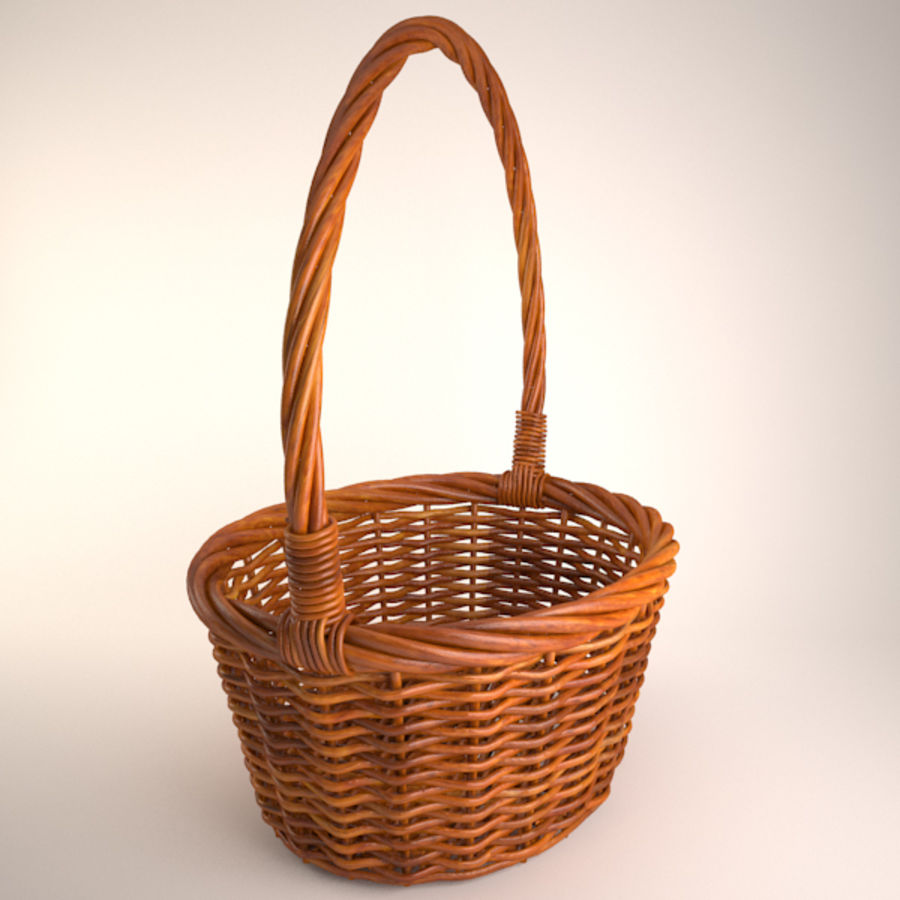 Basket 2 royalty-free 3d model - Preview no. 3