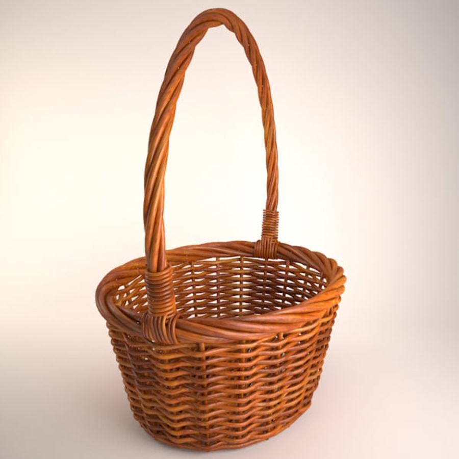 Basket 2 royalty-free 3d model - Preview no. 3