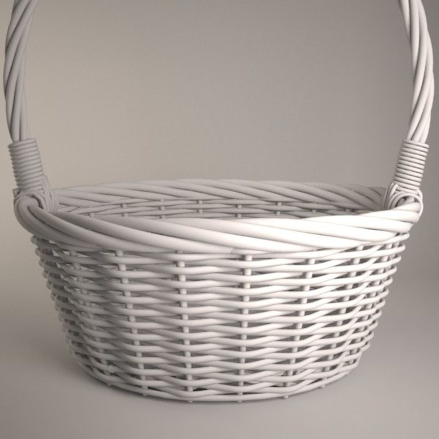 Basket 2 royalty-free 3d model - Preview no. 4