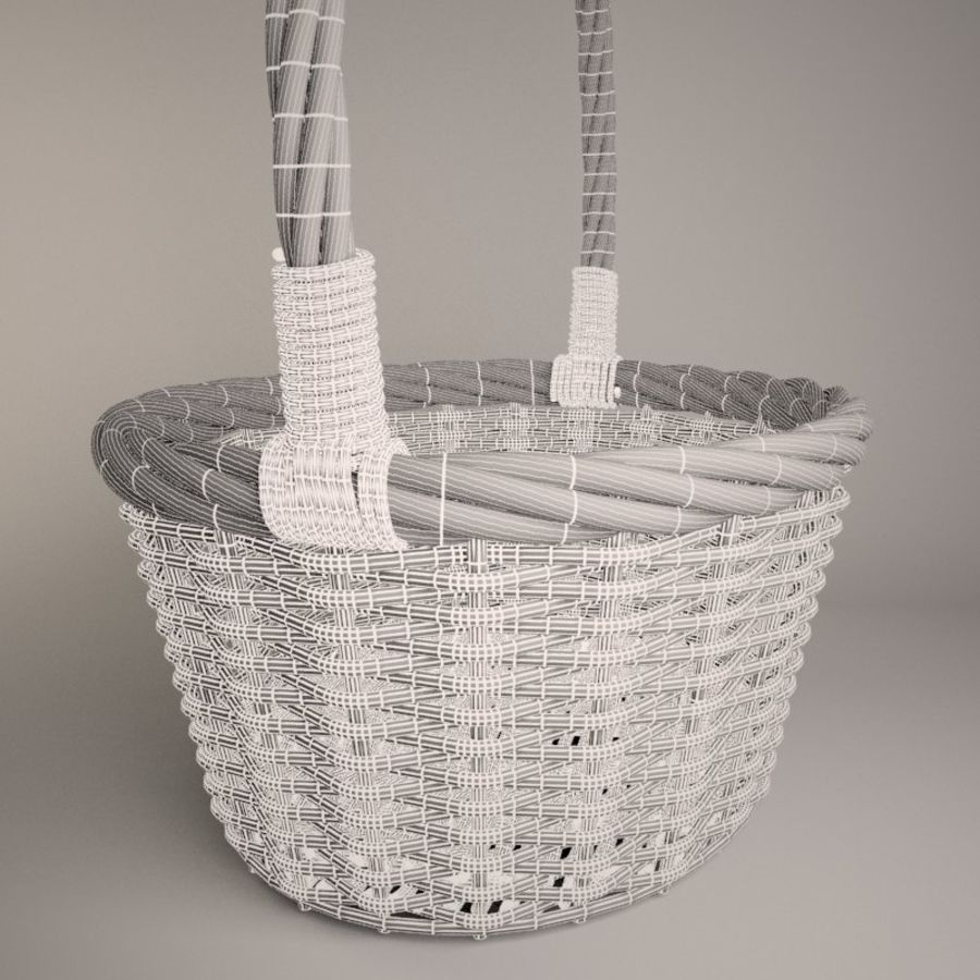Basket 2 royalty-free 3d model - Preview no. 6