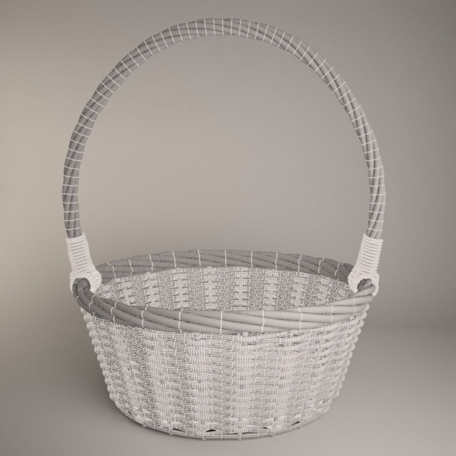 Basket 2 royalty-free 3d model - Preview no. 5