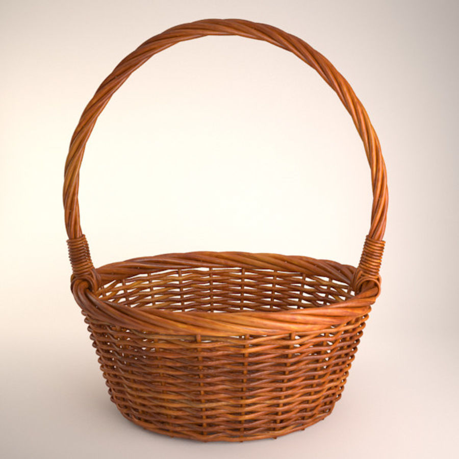 Basket 2 royalty-free 3d model - Preview no. 1