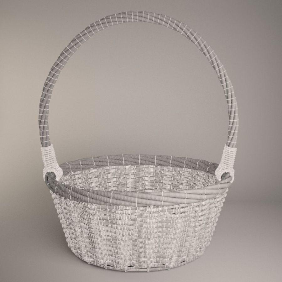 Basket 2 royalty-free 3d model - Preview no. 5