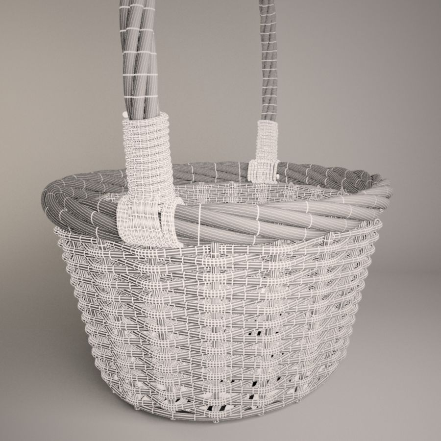 Basket 2 royalty-free 3d model - Preview no. 6