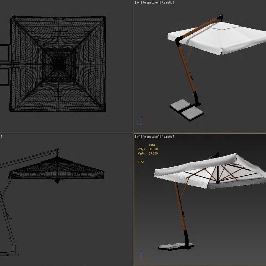 Bezpłatny stojący ogród Sunbrella royalty-free 3d model - Preview no. 14