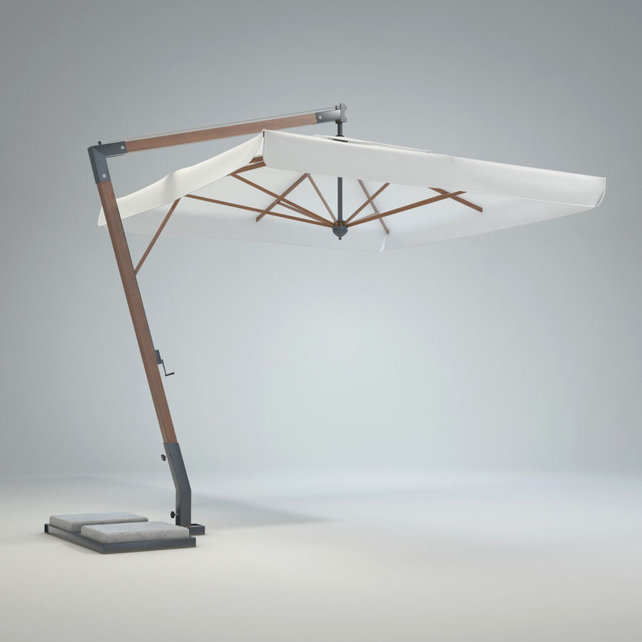 Bezpłatny stojący ogród Sunbrella royalty-free 3d model - Preview no. 3