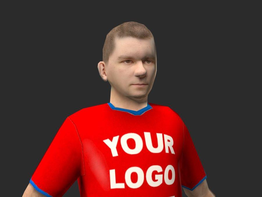 piłkarz (piłka nożna) royalty-free 3d model - Preview no. 4