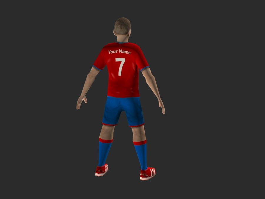 football (soccer) player royalty-free 3d model - Preview no. 2