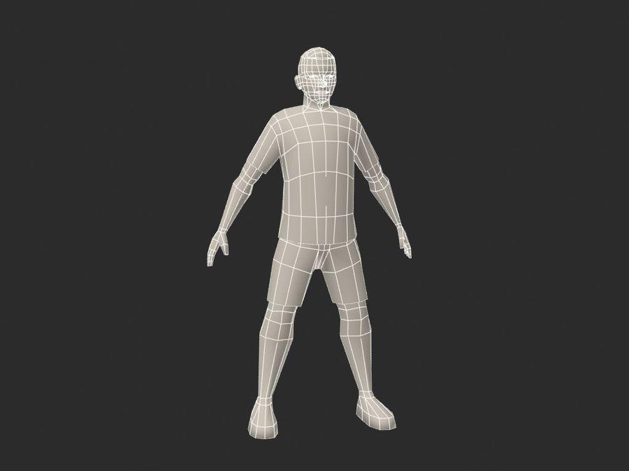 足球(足球)球员 royalty-free 3d model - Preview no. 6