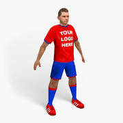 joueur de football 3d model