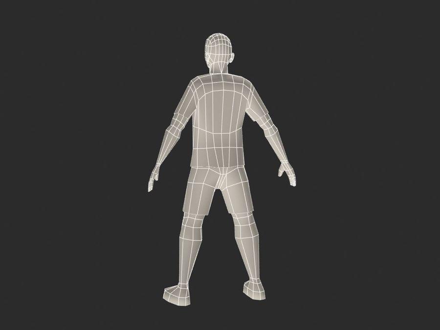 piłkarz (piłka nożna) royalty-free 3d model - Preview no. 7