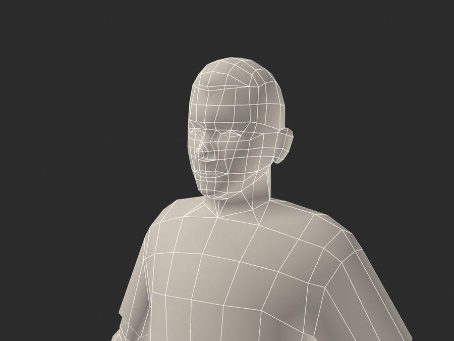 足球(足球)球员 royalty-free 3d model - Preview no. 8
