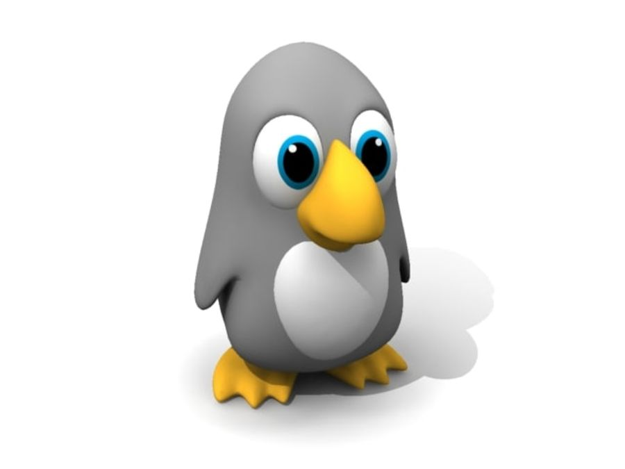 Cartoon Penguin royalty-free 3d model - Preview no. 1