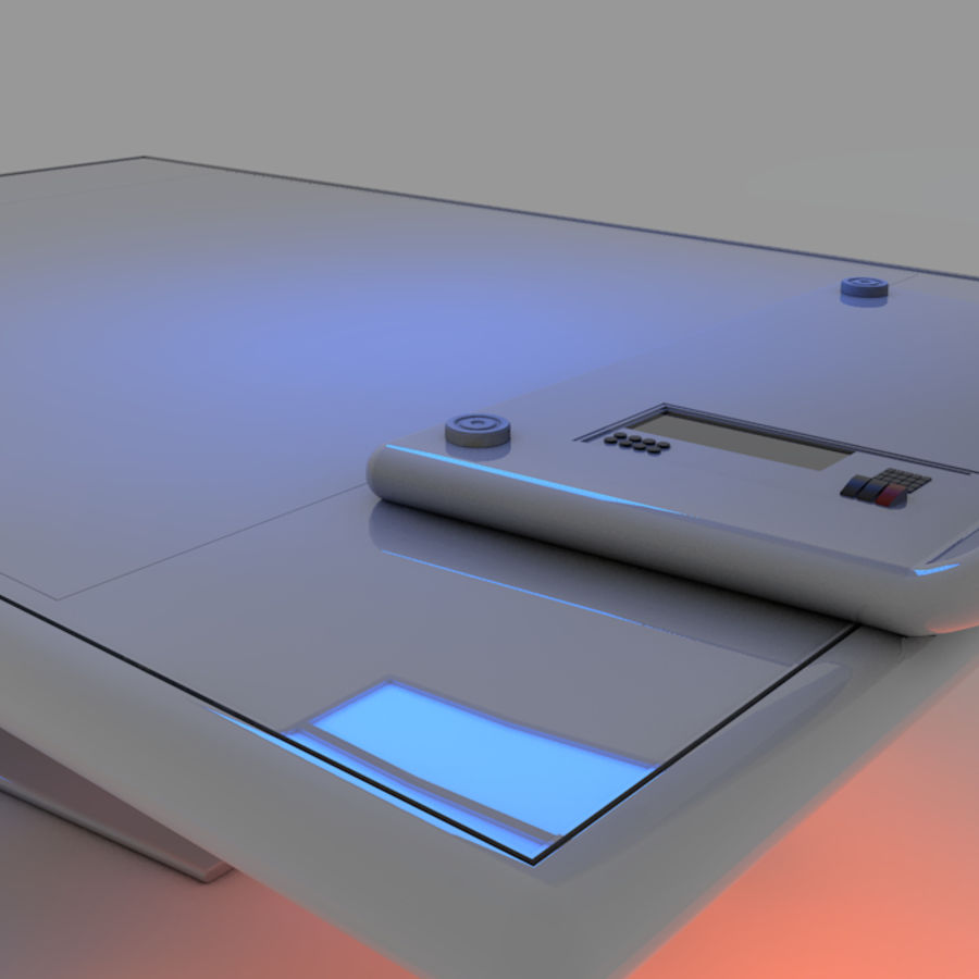 Sci Fi Table royalty-free 3d model - Preview no. 2