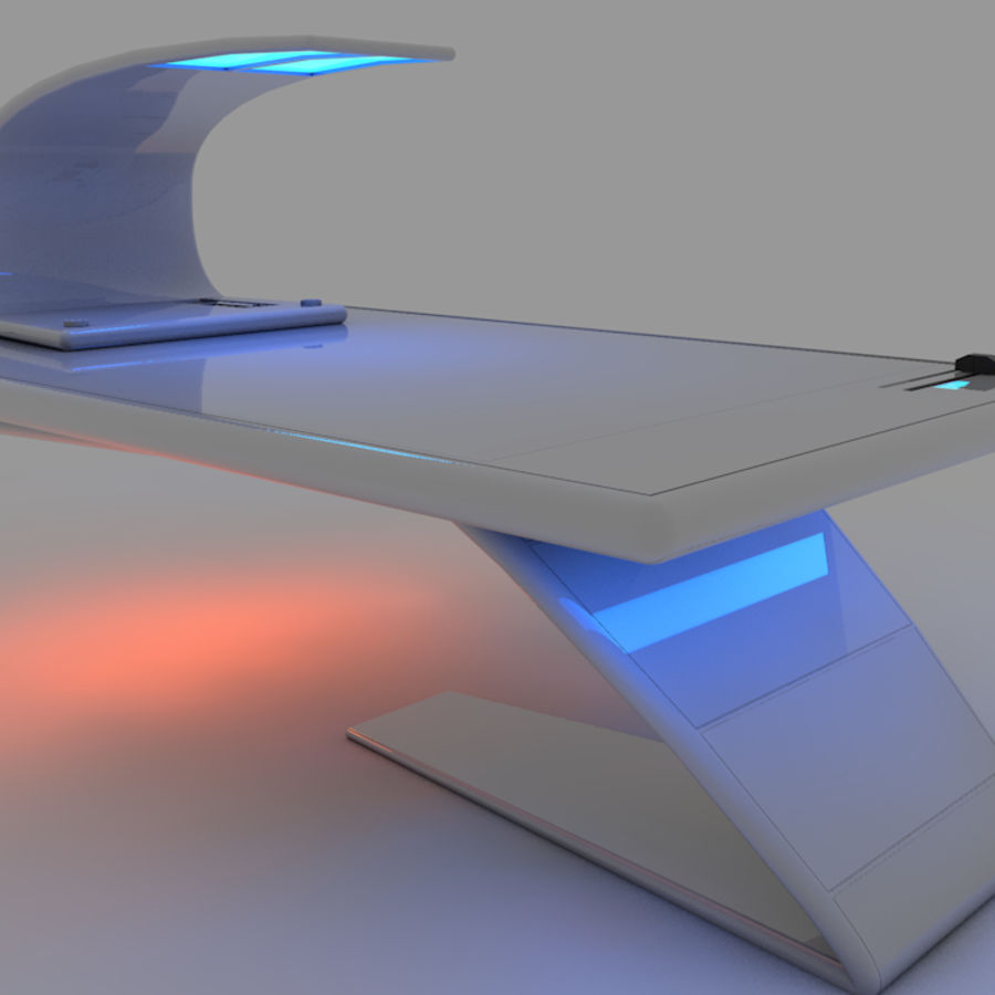 Sci Fi Table royalty-free 3d model - Preview no. 1