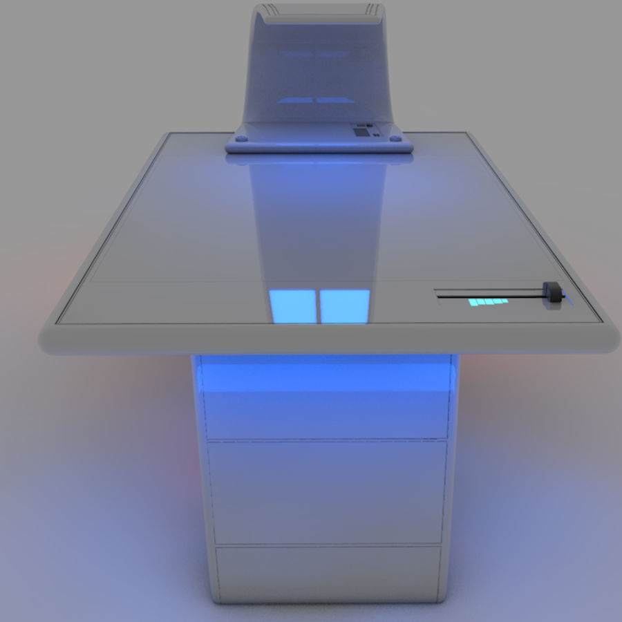 Sci Fi Table royalty-free 3d model - Preview no. 4