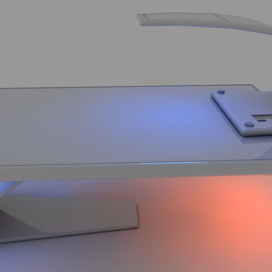 Sci Fi Table royalty-free 3d model - Preview no. 6