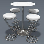 Azais Barstool & Trevise Snack Table 3d model