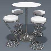 Azais Barstool&Trevise小吃桌 3d model
