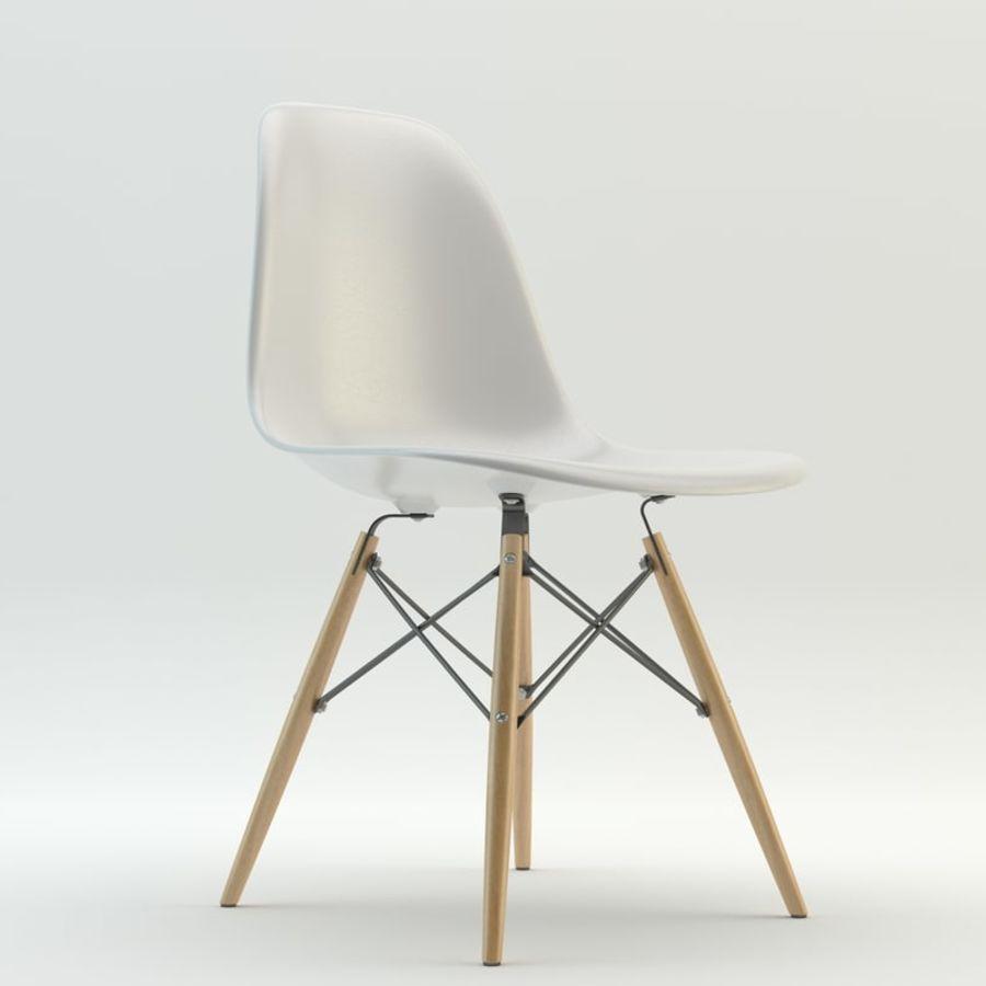 Krzesło i stół DSW royalty-free 3d model - Preview no. 2