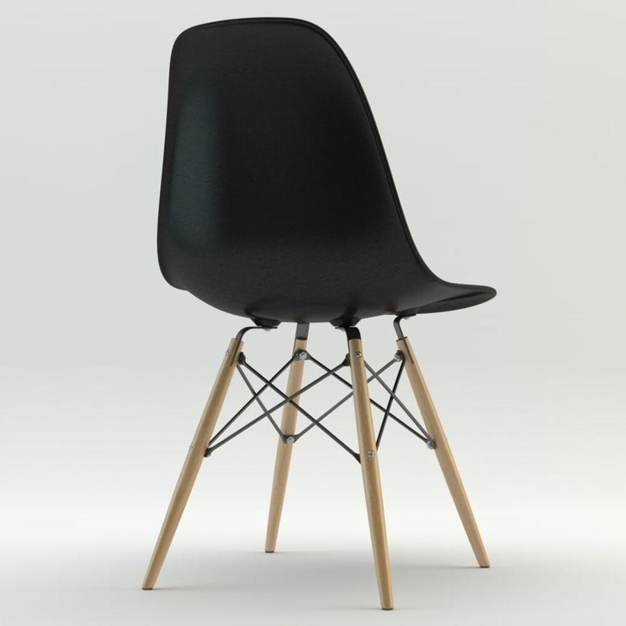 Krzesło i stół DSW royalty-free 3d model - Preview no. 3