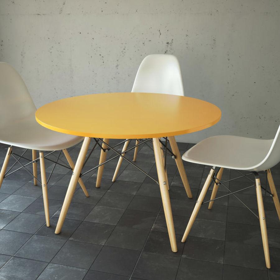 Krzesło i stół DSW royalty-free 3d model - Preview no. 1