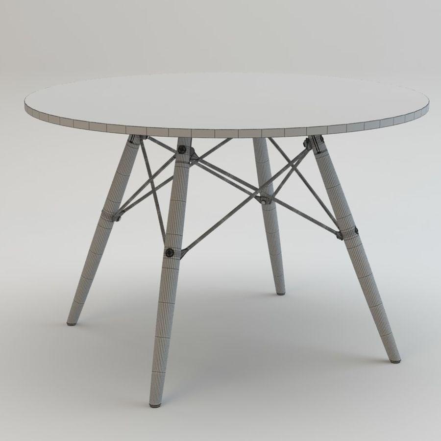 Krzesło i stół DSW royalty-free 3d model - Preview no. 12
