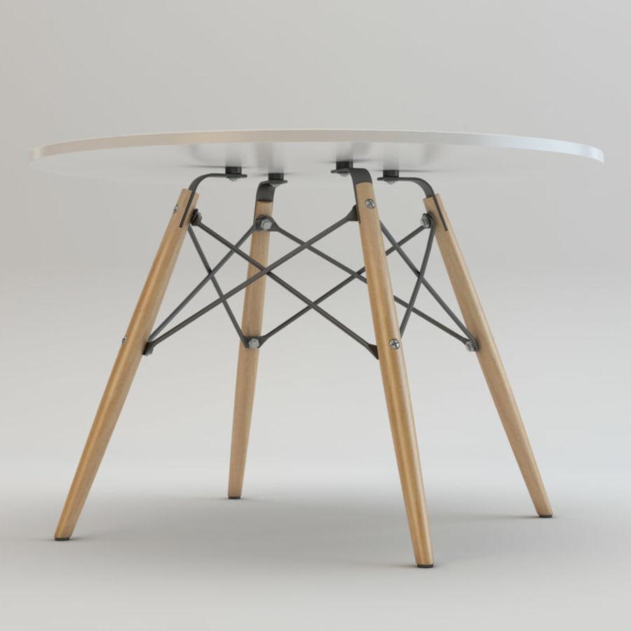 Krzesło i stół DSW royalty-free 3d model - Preview no. 10
