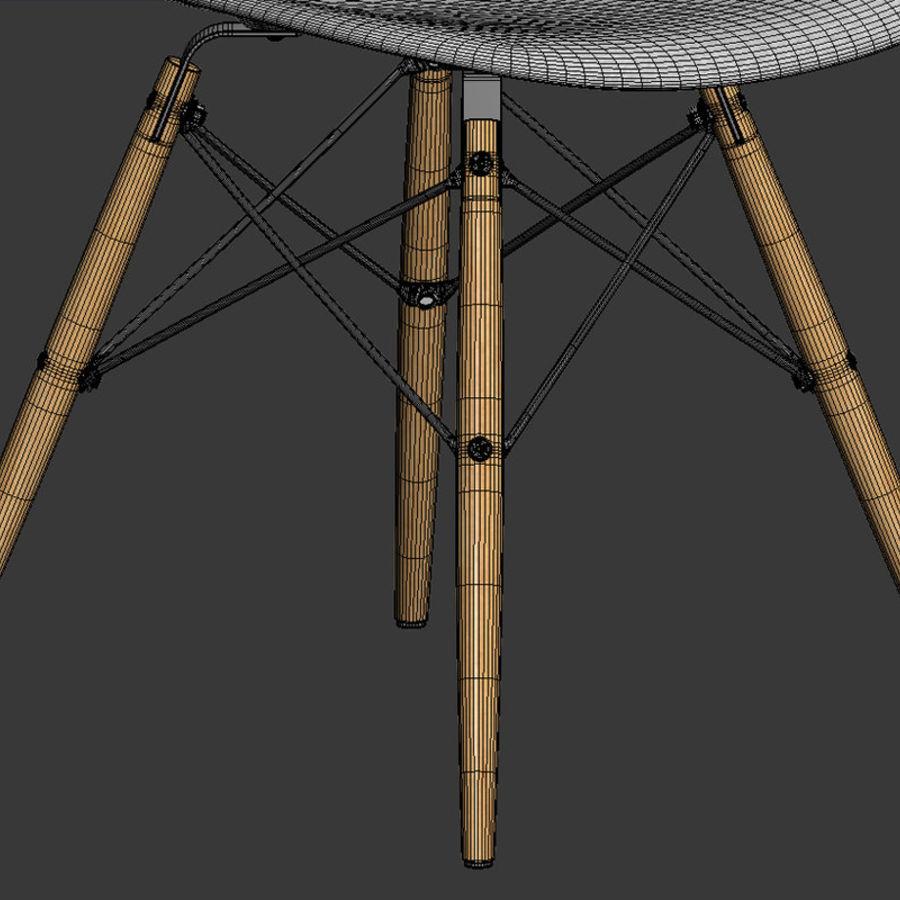 Krzesło i stół DSW royalty-free 3d model - Preview no. 6