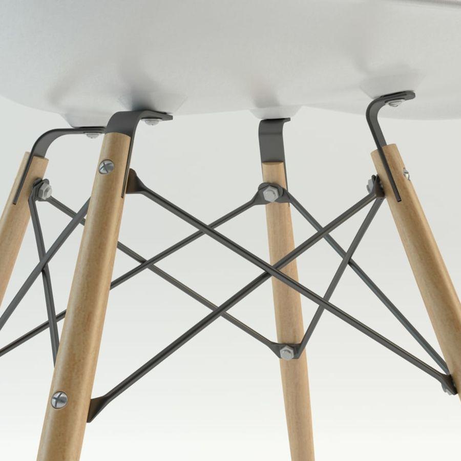 Krzesło i stół DSW royalty-free 3d model - Preview no. 4