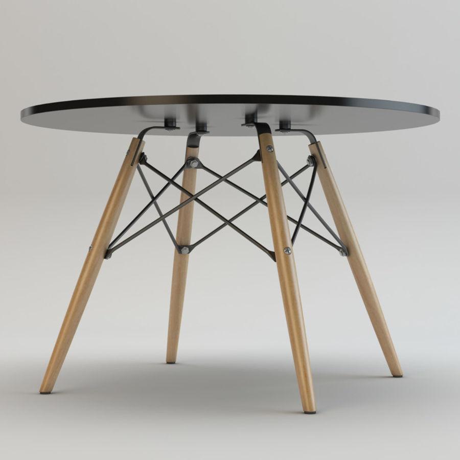 Krzesło i stół DSW royalty-free 3d model - Preview no. 9