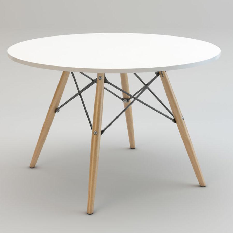 Krzesło i stół DSW royalty-free 3d model - Preview no. 8