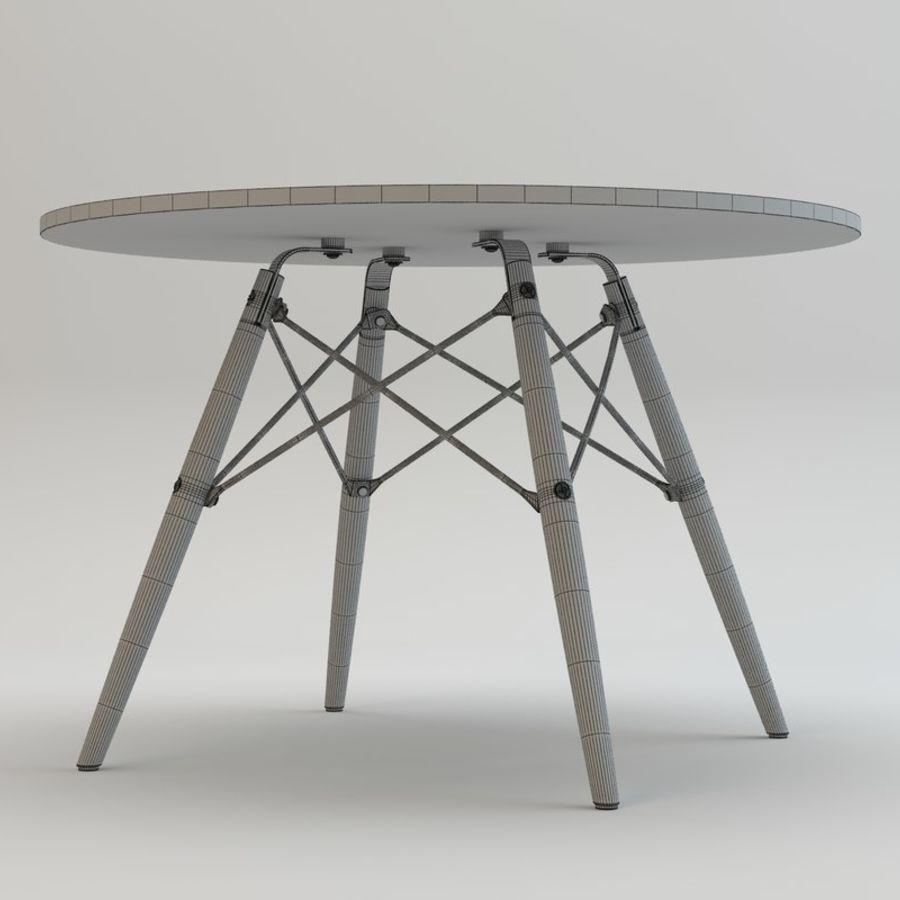 Krzesło i stół DSW royalty-free 3d model - Preview no. 11