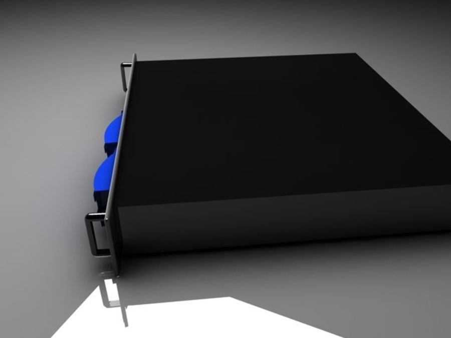 CPU-rack royalty-free 3d model - Preview no. 5