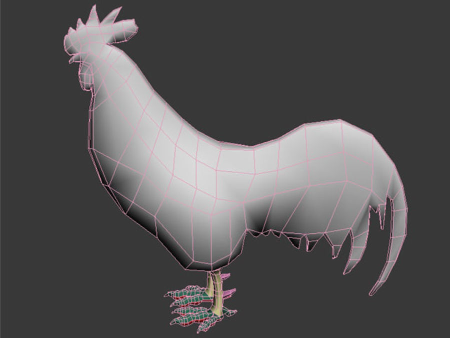 Rooster royalty-free 3d model - Preview no. 8