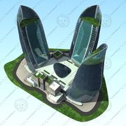 Torres de fuego modelo 3d