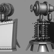 Steam Punk Turret 3d model